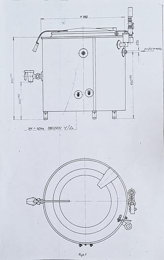 Used Kocioł warzelny elektryczny - Typ KE -150.6 o pojemności 150 dm