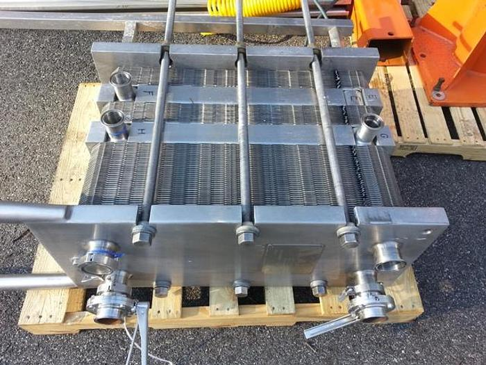 Used 228 SQ. FT. APV PLATE TYPE HEAT EXCHANGER – SANITARY S/S (#9520)