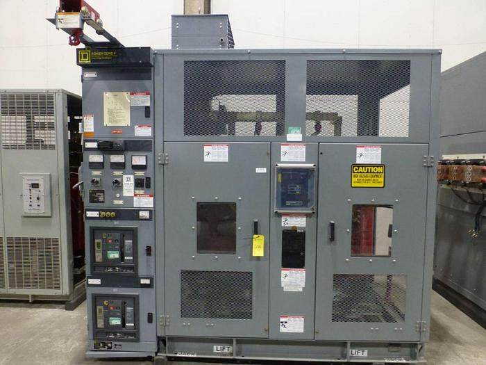 Used SQUARE D COMPANY 750 / 1000 KVA TRANSFORMER W/ BREAKERS