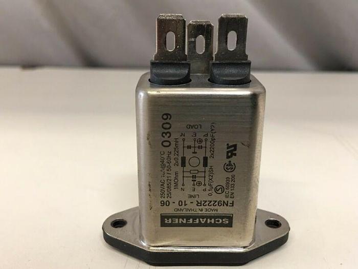 Used Schaffner Fn9222R-10-06 Emi Power Line Filter 10A 373 Ua