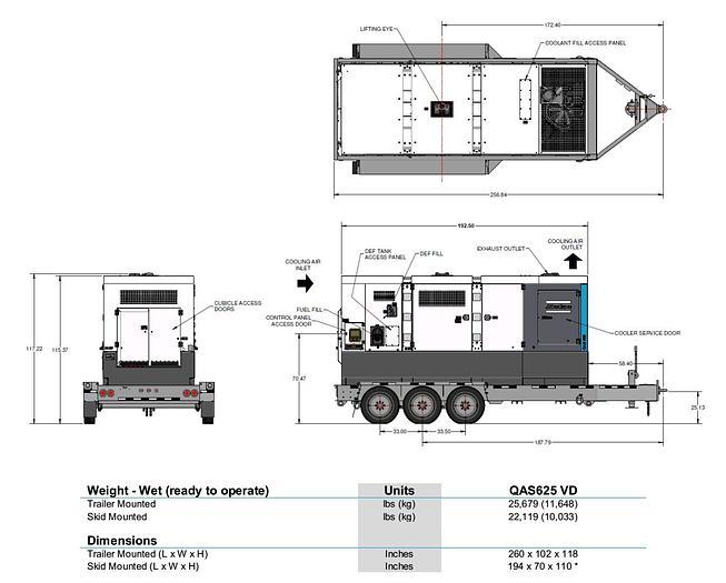 2020 Atlas Copco QAS 625 JD T4F