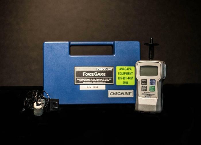 Used Shimpo Check Line FGE Force Gauge FGE-20X 20 Lb 100 N (3694)