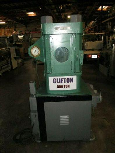 500 TON CLIFTON / M & N HYDRAULIC HOBBING PRESS / COINING PRESS