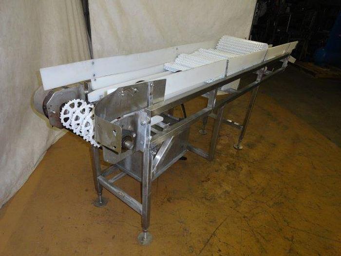 "Used Stainless Steel belt Conveyor; 15""W x 10' 6""L"