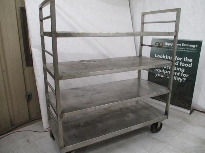 "Used Cart; Stainless Steel; 65""x29"""
