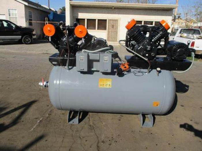 SPEEDAIRE DUPLEX AIR COMPRESSOR (2) 10HP,72CFM, CAST IRON SERIES 5Z405C