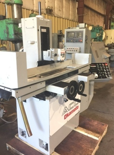 "6"" x 18"" Okamoto ACC-618-DX3 Horizontal Surface Grinder,VS Cross Feed, IDF. 1996"