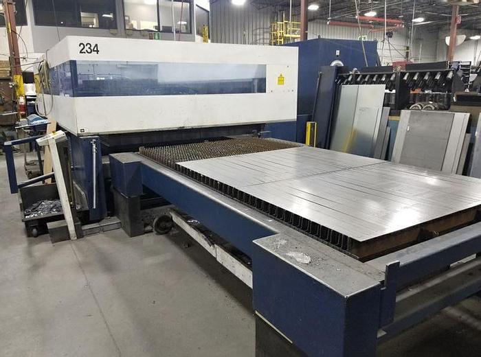Used 2009 4000 Watt Trumpf TruLaser 3030 CNC CO2 Laser Cutting System