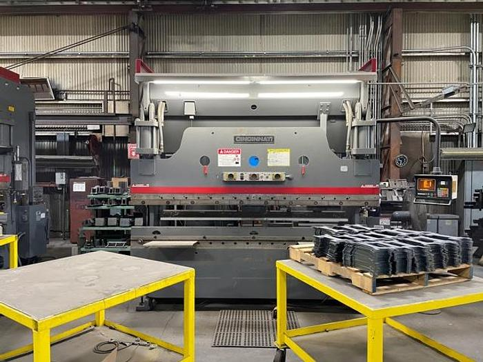 "Used Cincinnati 90 CB-8 hydraulic press brake, 90 tons, 10 foot, 8"" stroke"