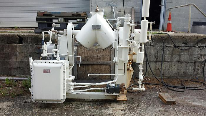 Used 2 CU. FT. PATTERSON KELLEY TWIN SHELL VACUUM PROCESSOR – S/S (#9298)