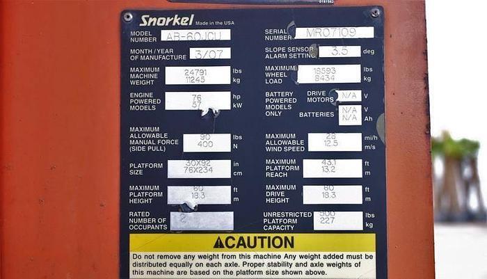 Zwyżka SNORKEL AB-60JCU