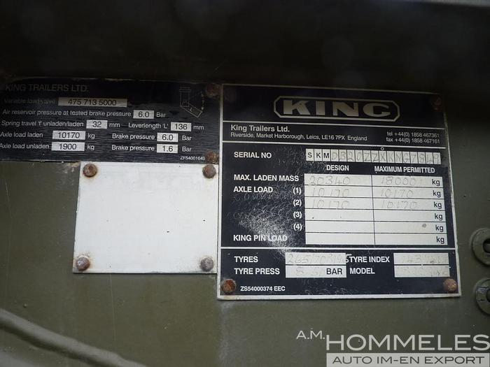 Used King trailers 15t. container