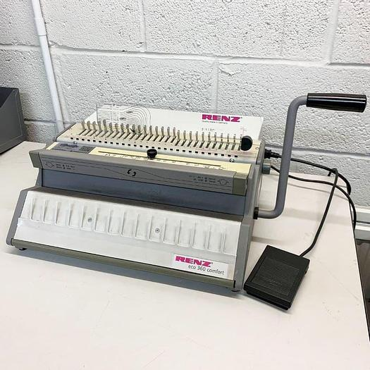 Used Pre-used Renz Electric ECO 360 Comfort 2:1 Wire Binding Machine