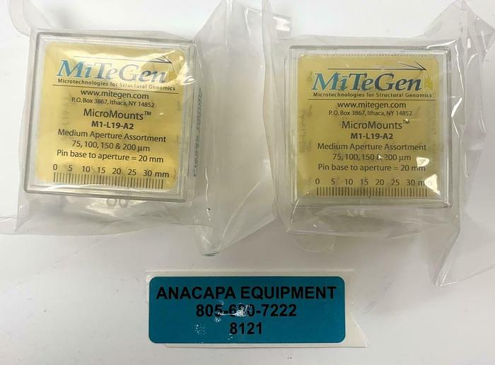 MiTeGen M1-L19-A2 Micro Mounts Medium Aperture Assortment, New Lot of 2 (8121)W