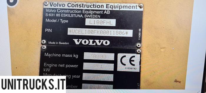 Usata 2008 VOLVO L 180 FHL