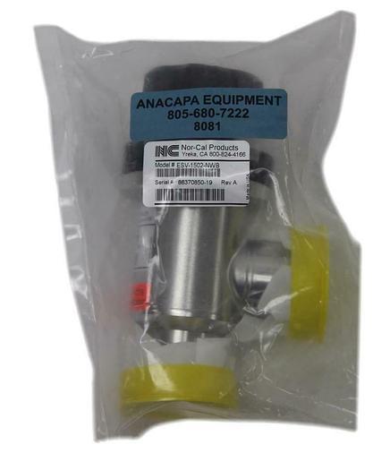 "Nor-Cal ESV-1502-NWB 1-1/2"" Manual Right Angle Popett Valve NW-40  New (8081)W"