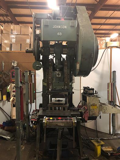 Used 60 TON JOHNSON OBI PRESS & SERVO FEED LINE