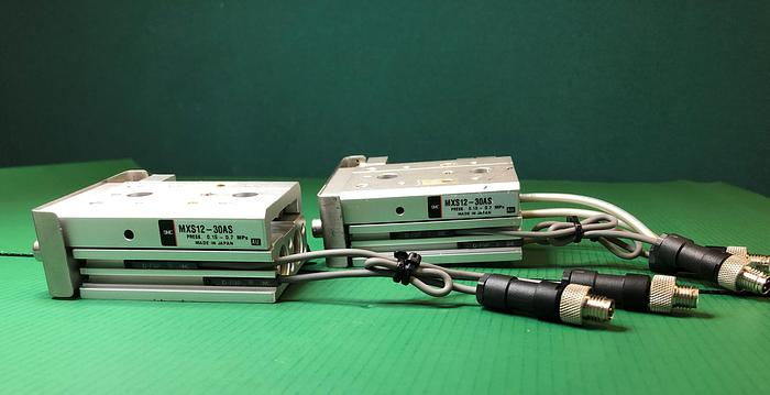 Used SMC MXS12-30AS Pnuematic Dual Rod Cylinder