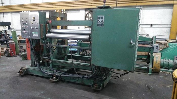 """Used 48"""" Memco Embossing Stand with Rolls: EM-069"""