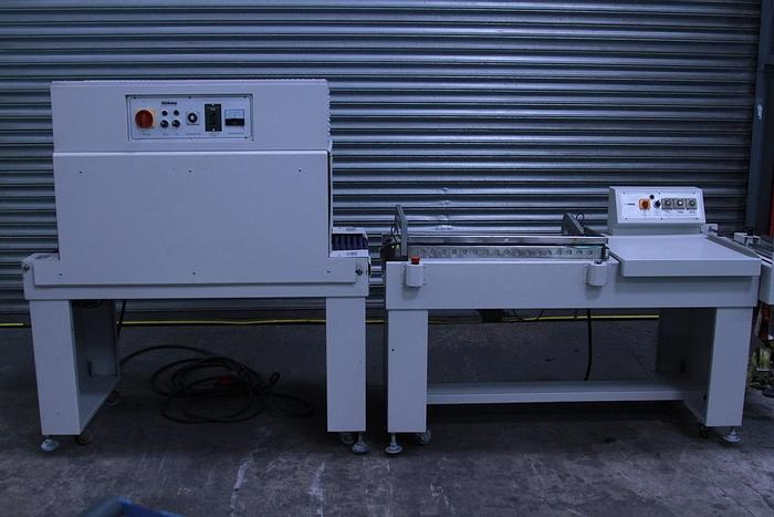 Used Pneumatic Semi Automatic L Sealer and Heat Tunnel