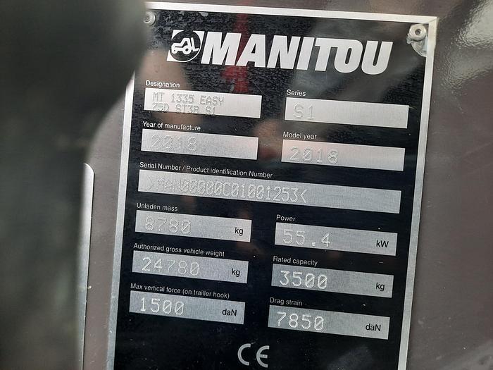 2018 Manitou MT 1335 Easy