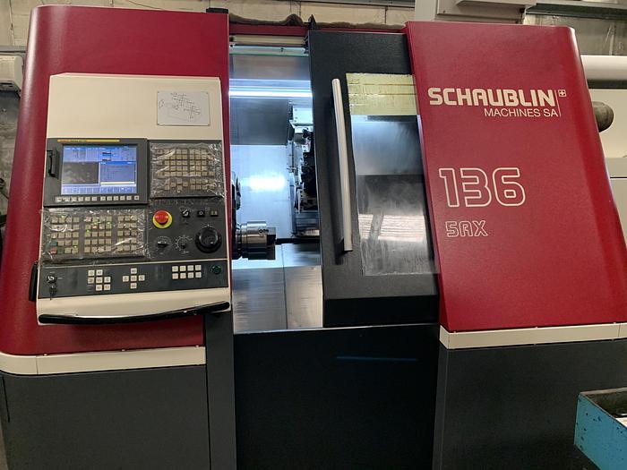 Used BRUGT CNC-DREJEBÆNK FABR. SCHAUBLIN, MODEL 136-5AX