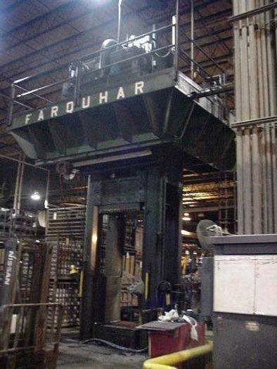 "Used 600 Ton Farquhar Straight Side Hydraulic Press; 50"" x 50"" Bed; 72"" Stroke; 144"" DLO; High Speed; P.O.R."