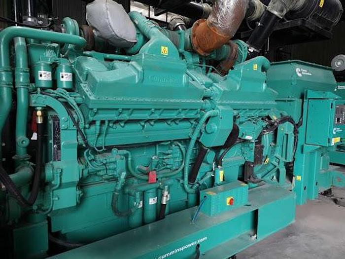 Used 1.76 MW 2011 Used Cummins QSK60G4 Diesel Generator