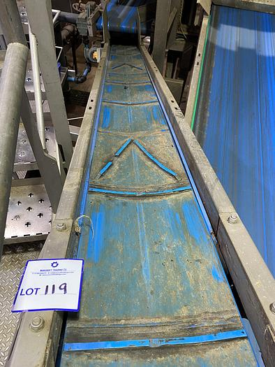 Used Stainless Steel Elevated Conveyor 4m L 0.4m W