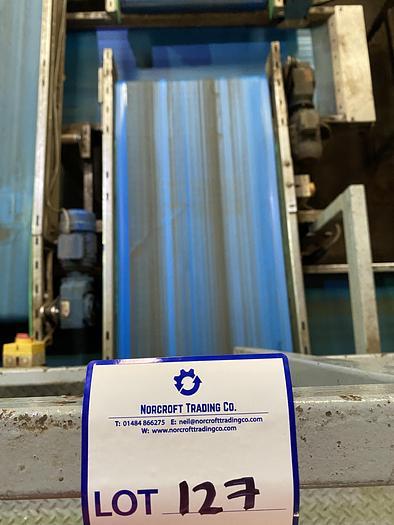 Used Stainless Steel Conveyor Belt 5m L 0.85m W