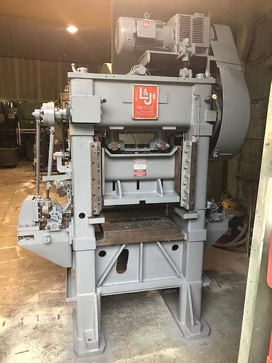 "20 Ton, L & J PRESS, No. PM2-20, 1-1/2"" STR 0-650 SPM"