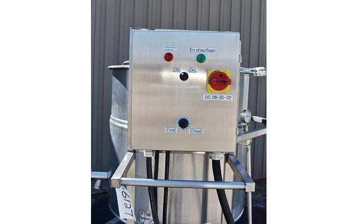 USED 80 GALLON JACKETED KETTLE, STAINLESS STEEL, ELECTRIC