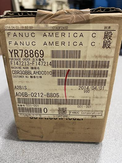 New in Box Fanuc A06B-0212-B805 AC Servo Motor