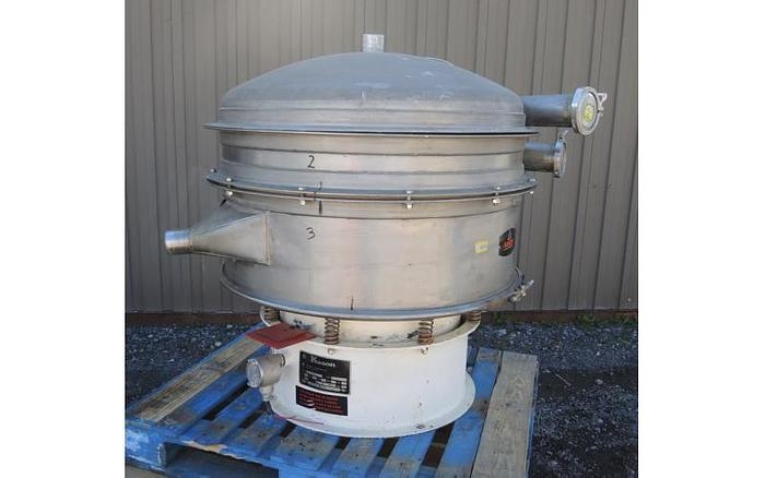 "Used USED KASON SCREEN, 40"" DIAMETER ""PNEUMATIC SIFTER"", STAINLESS STEEL, DOUBLE DECK"