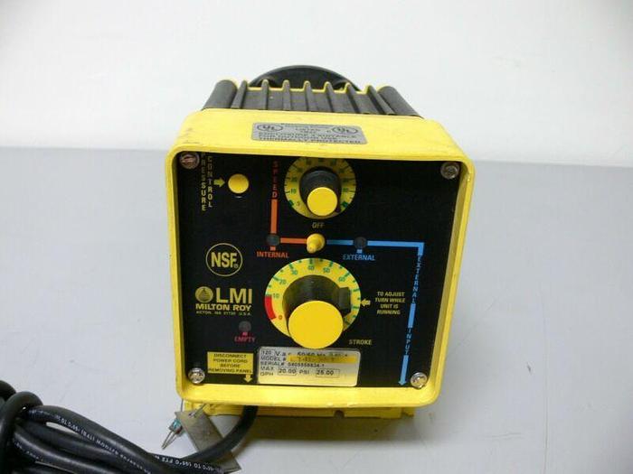 Used LMI Milton Roy Electromagnetic Dosing Pump C741-35T 120 VAC 50/60 Hz 3.5 A