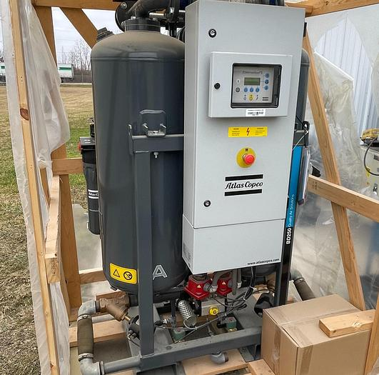 Used ATLAS COPCO MODEL CD150 DESICCANT COMPRESSED AIR DRYER - NEVER USED