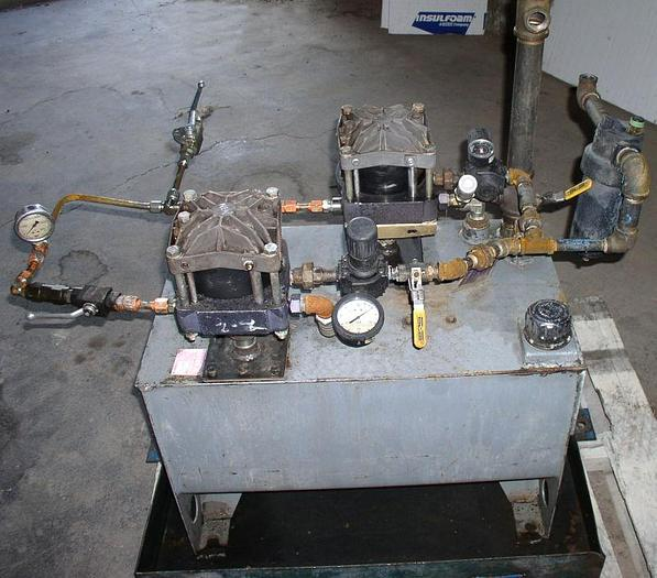 Used 3,800 PSI Haskel Air Driven Fluid Pump Hydraulic Unit
