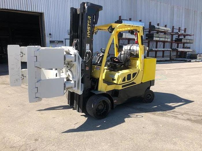 Used 12,000 POUND HYSTER MODEL S120FTPRS ROLL CLAMP FORKLIFT MFG. 2016