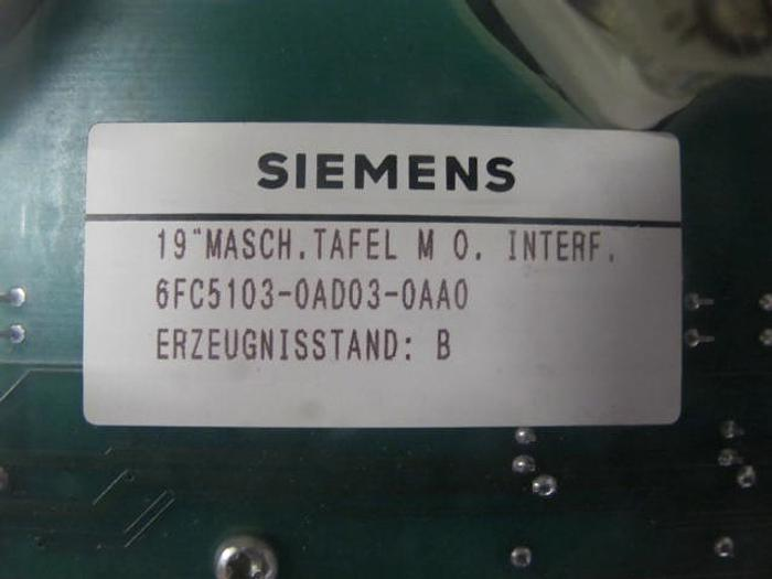 Maschinensteuertafel Bedientafel Siemens 6FC5103-0AD03-0AA0