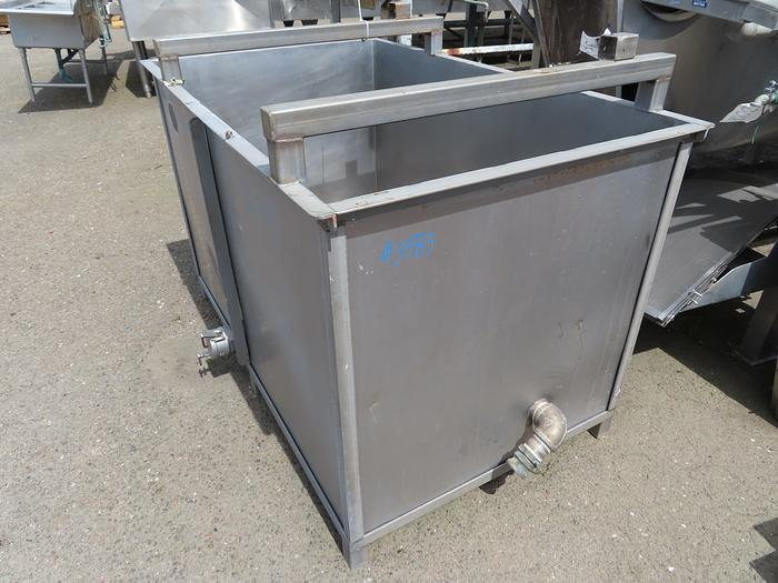 300 Gallon Rectangular Stainless Steel Tank