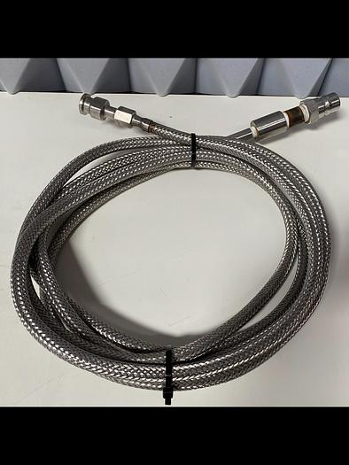 """Used Stainless Steel  178"""" Flexible Braided Hose w/ SSH4 Quick Release & 1/2"""" Sanitary"""