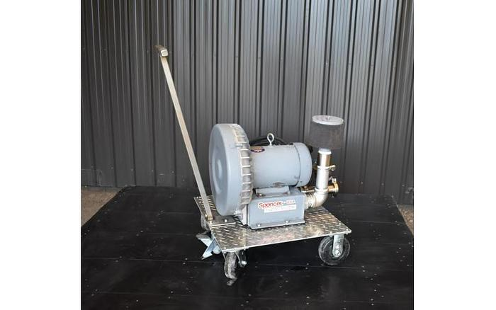 USED SPENCER REGENERATIVE BLOWER, 262 CFM