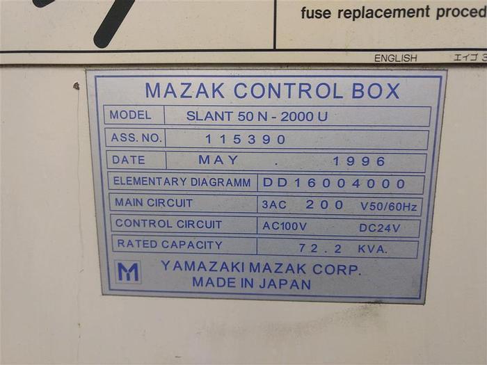 Used 1996 Mazak Slant Turn 50N/2000