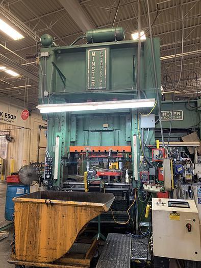 """Used 400 ton E2 Minster 60""""x42"""" SSDC Stamping Press"""