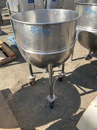 Groen 40 Gallon Stainless Steel Steam Jacketed Kettle
