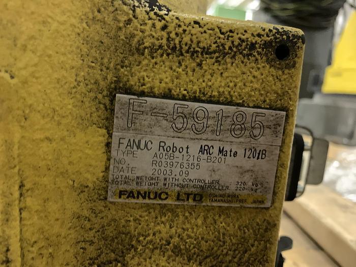 Used FANUC ARCMATE 120iB 6 AXIS CNC ROBOT WITH RJ3iB