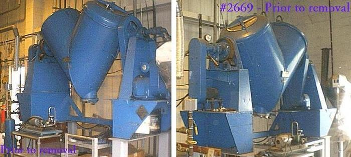 Used 20 CU. FT. P-K TWIN SHELL SOLIDS PROCESSOR – S/S-VAC-JACKETED (#2669)