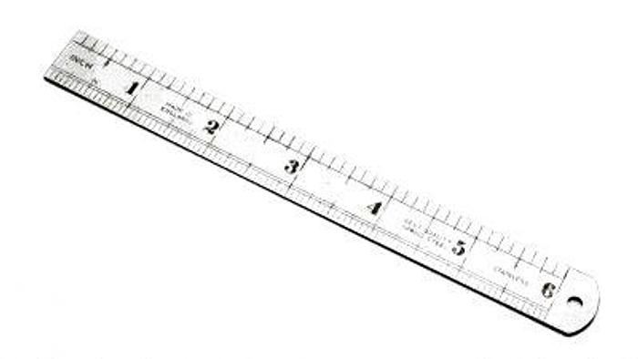 Ruler Graduated Steel 6in Wide Stainless Steel