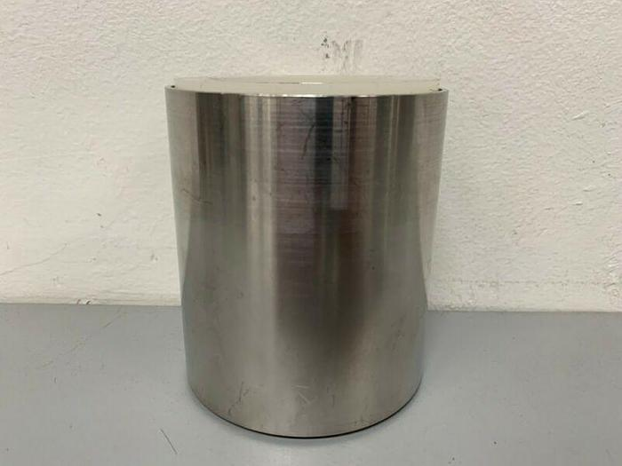 "Used Cuno Stainless Steel Filter 3"" D x 3.5"" H Spacer w/ Gaskets"