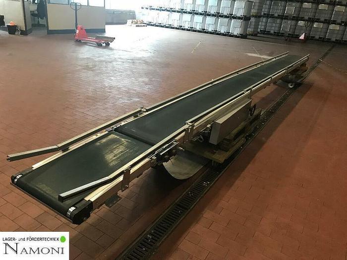 Gebraucht TRANSNORM Gurtförderer, Steigförderer, Förderband 7,1 Meter 1100